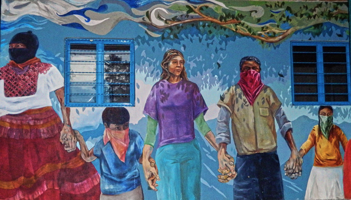 Ezln carlos marentes 39 blog for Mural zapatista