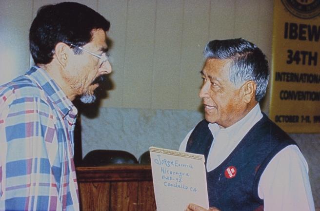 Platica con César Chávez que tuvo lugar en el salón del Sindicato de Electricistas de El Paso, Texas, en marzo de 1993, un mes antes de su fallecimiento.