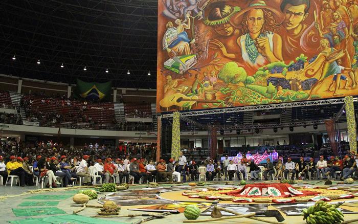 Asamblea del Sexto Congreso Nacional del Movimiento de Trabajadores Sin Tierra (MST) en Brasilia, en el mes de febrero pasado.
